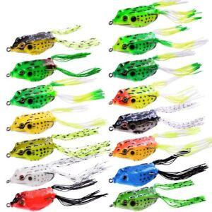 Frog Shape Fishing Lures Soft Artificial Top Water Baits Swimbait Fish 15pcs/lot