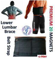 Magnetic Lower Back Lumbar Support Brace Belt Pain Relief & Backache -20 Magnets