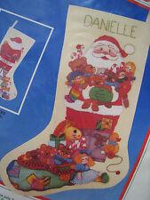"Dimensions Crewel Stitchery Christmas Stocking Kit,SANTA'S SACK OF TOYS,8051,16"""