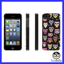 GRIFFIN Wise Eyes hard shell case, iPhone 5/5s, Cute Owl Graphics, Black/Pink