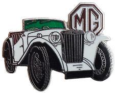MG TC car cut out lapel pin - White