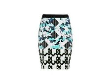 Peter Pilotto X Target Blue Floral/Check Pencil Skirt. Sz 2. Sold out!