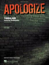 Apologize Sheet Music Piano Vocal Timbaland NEW 000353698
