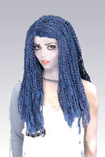 CORPSE BRIDE WIG Tim Burtons Blue Braids Adult Ladies Womens Costume Accessory
