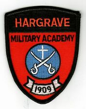 HARGRAVE MILITARY ACADEMY PATCH FULL COLOR