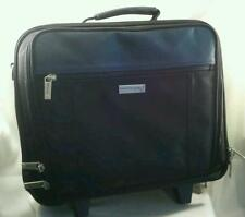 Kenneth Cole New York Wheeled Computer Briefcase Overnighter Suitcase Black