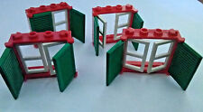 4 x LEGO WINDOWS WITH SHUTTERS
