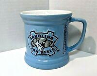 NORTH CAROLINA TAR HEELS Collectible Coffee Mug Raised 3D Design EXC