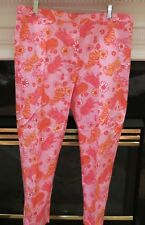 NWT WOMEN LILLY PULITZER ORANGE PINK TIGER COTTON STRETCH CAPRI CROPPED PANTS 16