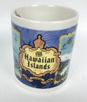 Hawaii Coffee Mug Cup Hawaiian Islands MAP Durable Porcelain Dishwasher Safe