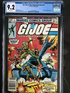 G.I.JOE #1 Newsstand CGC 9.2!!! 1st Snake Eyes!!! Many First Appearances🔥🔥HTF