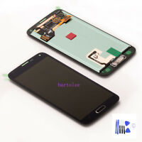 For Samsung Galaxy S5 G900F G901F LCD Display Touch screen Digitizer Black+Cover