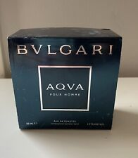 AQVA Bvlgari 1.7 oz Eau de Toilette Spray Men's Cologne Bulgari 50 ml NIB