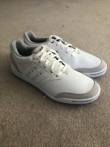 NEW Adidas Adicross III Spikeless Golf Shoes White Leather US 11 Q46649
