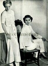 """Knitting Patterns Ladies Vintage 30s/40s Night Dress & Dressing Jacket. 34-38"""""""
