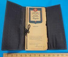 Vintage Important Paper Document File Booklet Portfolio Rhett Stidham Estate