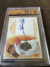 2013 TOPPS TRIBUTE ORANGE JOHNNY CUETO 13/75 AUTO BGS 9.5 AUTO 10 REDS GIANTS