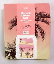 NEW Primark Saffy B Saffron Barker Tropical Reversible KING Duvet Cover Set