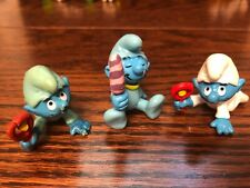 Smurfs Schleich Lot 3 Figurines Baby Smurfs White Blue Beautiful Babies