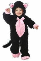 PRINCESS PARADISE kitty cat costume baby size 18 mos 2T black pink halloween