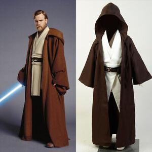 Star Wars Jedi Knight Obi Wan Kenobi Cosplay Costume Outfit Kids Child Uniform