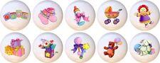 Set of 10 Baby Nursery Girl CERAMIC Drawer Pulls Dresser Drawer Cabinet Knobs