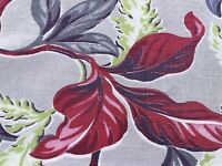 SALE! Tropical 30's Flora Barkcloth Faille Vintage Fabric Drape Curtain DIY Home