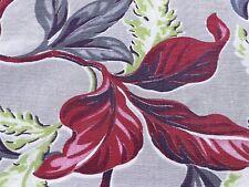 SALE! Tropical 30's Flora Barkcloth Faille Vintage Fabric Drape Curtain DIY Home