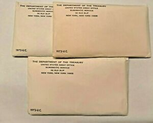 Sealed Unopened Envelopes 1972 US MINT UNCIRCULATED SETS (3 SETS PER LOT)  Rare!