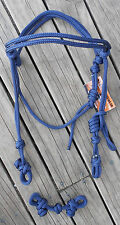 KNOTTED ROPE BRIDLE & CHIN STRAP -35 COLOURS- PROFESSIONALLY MADE