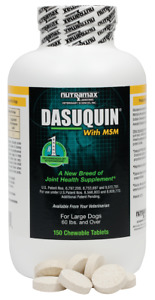 Dasuquin with MSM for Large Dogs (150 Chewable Tablets) NEW 04/2025
