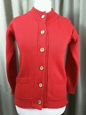 Guernsey Woollens Red Cardigan Made in Guernsey - Size 12 EXCELLENT CONDITION