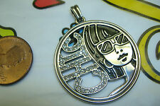 NWOT Brighton fashionista chic girl lady crystal charm pendant for necklace NEW
