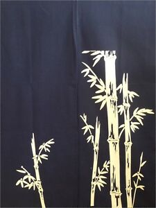 """Japanese  Noren Curtain Tapestry 2-Panel 34""""W x 56""""L Sushi Bar Bamboo Print"""
