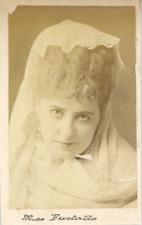 Miss Furtado  Vintage albumen print Tirage albuminé  6x9  Circa 1875