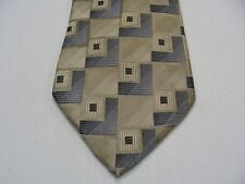 CONCEPTS BY CLAIBORNE - GEOMETRIC PATTERNED - 100% SILK NECK TIE!