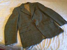 Vintage Mens Fletcher Jones Geek Nerd Preppy Greens Check Wool Jacket Sz 105 reg