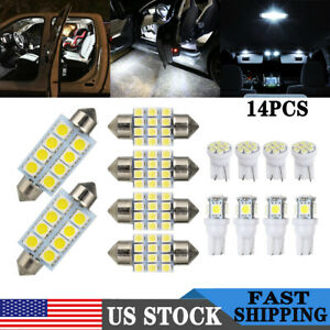 14pack White LED Light Interior Kit for T10 & 31mm Map Dome + License Plate Lamp