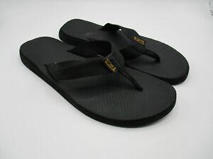 Teva Classic Flip Flop Sandals Mens 8 Thong Strap Black Beach Outdoors