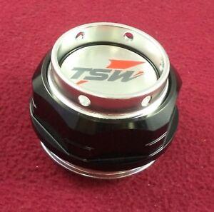 TSW Wheels Gloss Black Custom Wheel Center Cap Base & Hexnut # CB60 / BPER