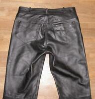"MODEKA / LONDON Herren- LEDERJEANS / Biker- Lederhose in schwarz ca. W37"" /L32"""