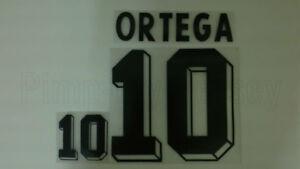 ARIEL ORTEGA #10 Argentina Home World Cup 1998 Name Set