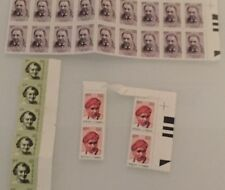 INDIA - LOT OF 30 Stamps  MINT NEVER HINGED STAMPS  ( CV RAMAN,  TATA & Indira G