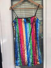 Forever 21 Rainbow Sequin Mini Dress Bnwt S 10 SEE DESCRIPTION