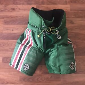 Vintage New Jersey Devils Tackla Hockey Pants PSH Pro Stock Red White GREEN