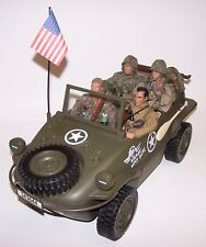 "Ultimate Soldier 1/6 Scale Amphibious Deluxe Jeep Berlin Express 4 12"" Soldiers"