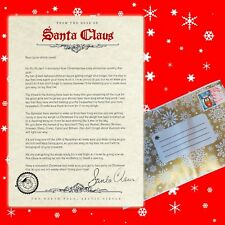 personalised Letter from santa printed on textured paper Father christmas childs