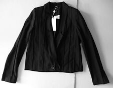 maison martin margiela BLACK PLEATED CROPPED short jacket it42 usa 6 NEW $2750
