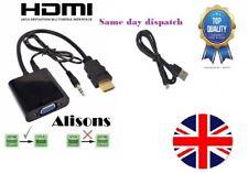 HDMI To VGA/SVGA 15-pin D-sub Female Convertor Adapter Black HD 1080P Monitor TV