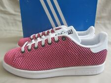 Adidas Stan Smith Sneakers Girls Youth Size 6.5 Shock Pink White New Without Box